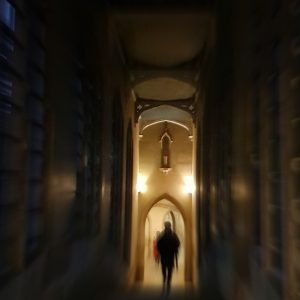 Ghost Tour of Cambridge: Bridge of Sighs at night, St. John's College, Cambridge