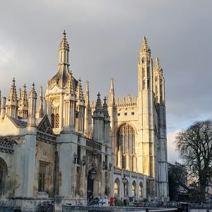 Gate of King's College, and King's College Chapel, Cambridge, December 2019