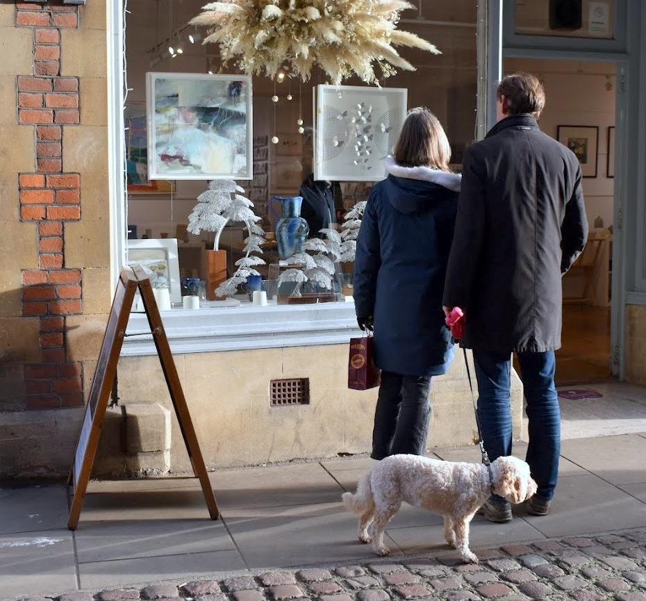 Shop window dog 20 12 2020